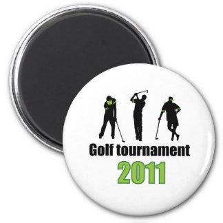 Golf tournament - GREEN Refrigerator Magnets