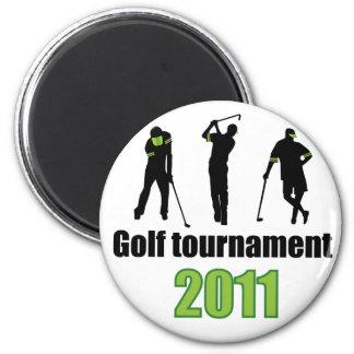 Golf tournament - GREEN Fridge Magnets