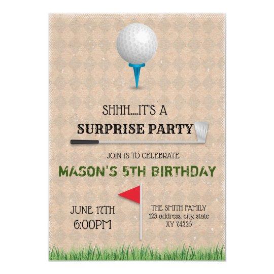 Golf Tournament Party Invitation
