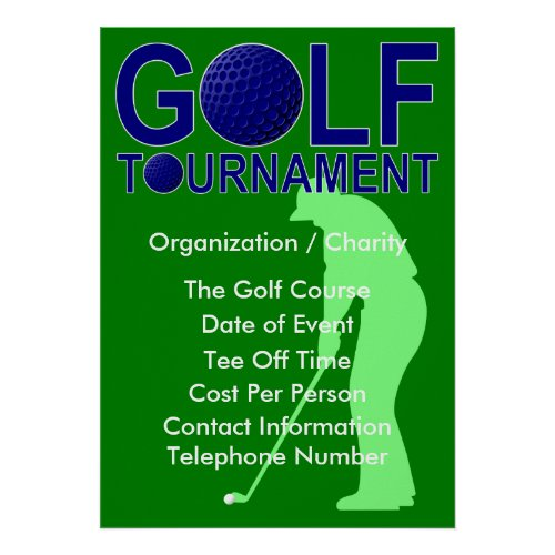 Golf Tournament Poster zazzle_print