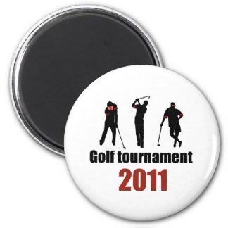 Golf tournament - RED Fridge Magnet