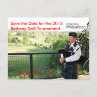 Golf Tournament Save the Date Postcard