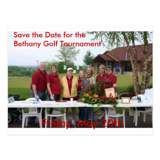 Golf Tourney Save the Date Postcard