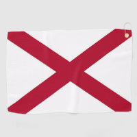 Golf Towel with flag of Alabama, USA