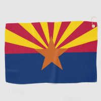 Golf Towel with flag of Arizona, USA