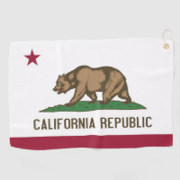 Golf Towel with flag of California, USA