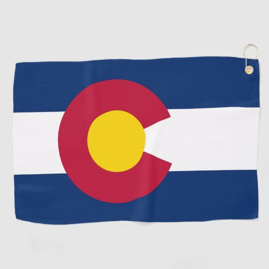 Golf Towel with flag of Colorado, USA