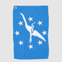 Golf Towel with flag of Corpus Christi City, USA