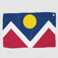 Golf Towel with flag of Denver, Colorado, USA
