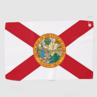 Golf Towel with flag of Florida, USA