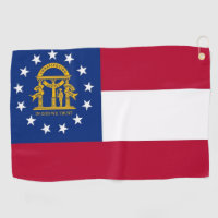 Golf Towel with flag of Georgia, USA