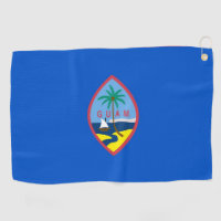 Golf Towel with flag of Guam, USA