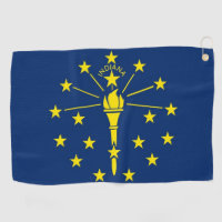 Golf Towel with flag of Indiana, USA