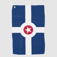 Golf Towel with flag of Indianapolis City, USA