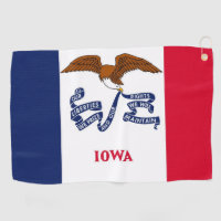 Golf Towel with flag of Iowa, USA