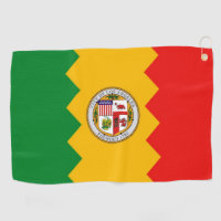 Golf Towel with flag of Los Angeles, USA