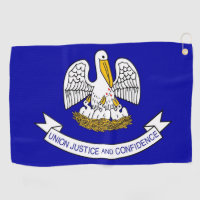 Golf Towel with flag of Louisiana, USA