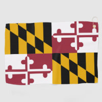 Golf Towel with flag of Maryland, USA