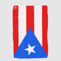 Golf Towel with flag of Puerto Rico, USA