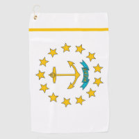 Golf Towel with flag of Rhode Island, USA