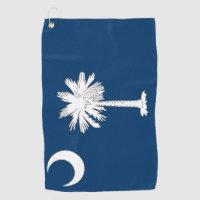 Golf Towel with flag of South Carolina, USA