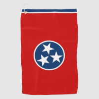 Golf Towel with flag of Tennessee, USA