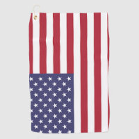 Golf Towel with flag of United States of America