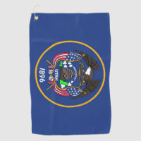 Golf Towel with flag of Utah State, USA