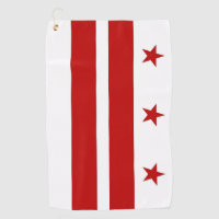 Golf Towel with flag of Washington DC, USA