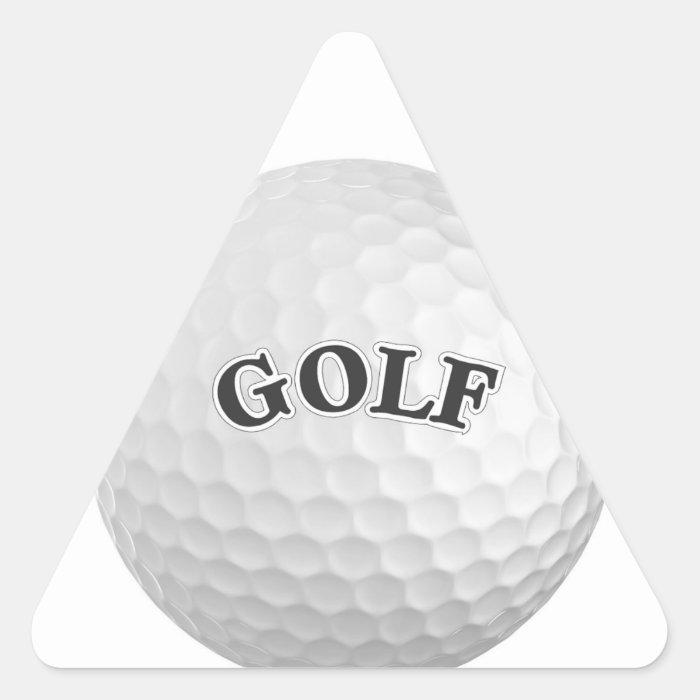 Golf Triangle Sticker