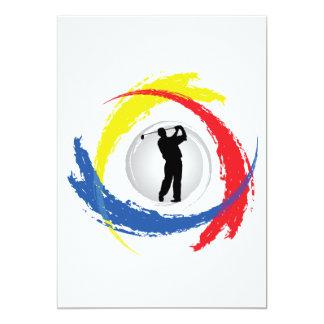 Golf Tricolor Emblem Card