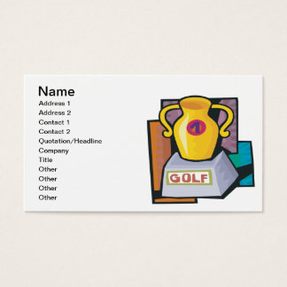 Golf Trophy Business Card