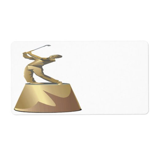 Golf Trophy Personalized Shipping Label