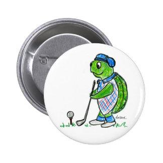 Golf Turtle Button