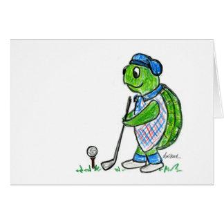 Golf Turtle Card