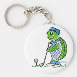Golf Turtle Keychain