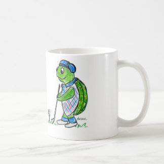 Golf Turtle Classic White Coffee Mug