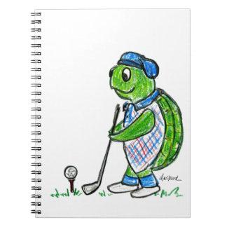 Golf Turtle Notebook