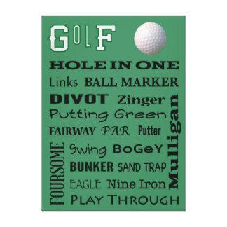 GOLF typography Canvas Print