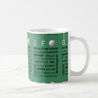 GOLF typography Classic White Coffee Mug