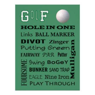 GOLF typography Photo Print