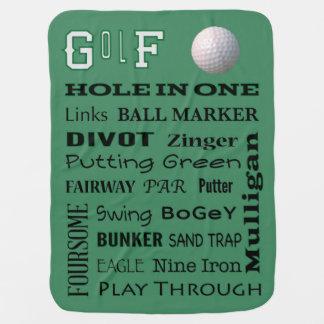 GOLF typography Stroller Blanket
