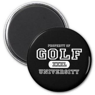 Golf University Dark Refrigerator Magnets