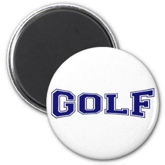 Golf University Style Refrigerator Magnet
