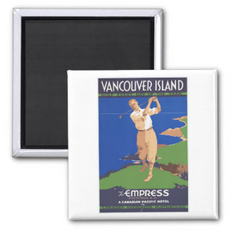 Golf Vancouver Island Canada 2 Inch Square Magnet