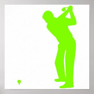 Golf verde chartreuse, de neón impresiones