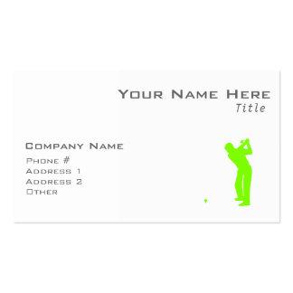 Golf verde chartreuse de neón plantillas de tarjeta de negocio