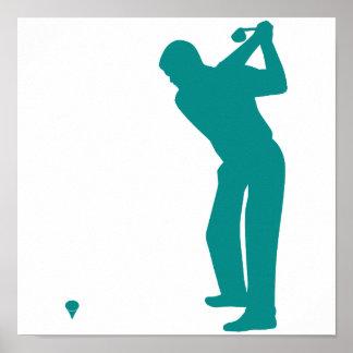 Golf verde del trullo poster