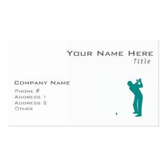Golf verde del trullo tarjetas de negocios