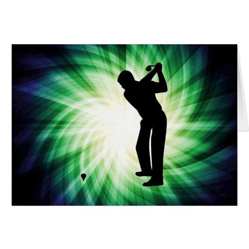 Golf verde fresco tarjetón
